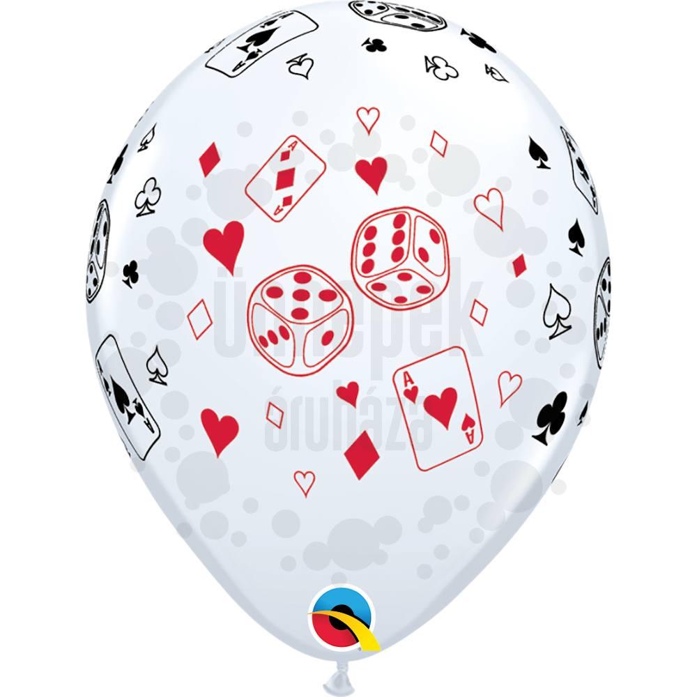11 inch-es Casino - Cards és Dice - Lufi (25 db/csomag)