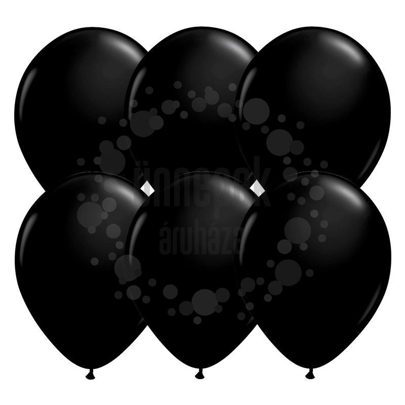 11 inch-es Onyx Black (Fashion) Kerek Lufi (25 db/csomag)