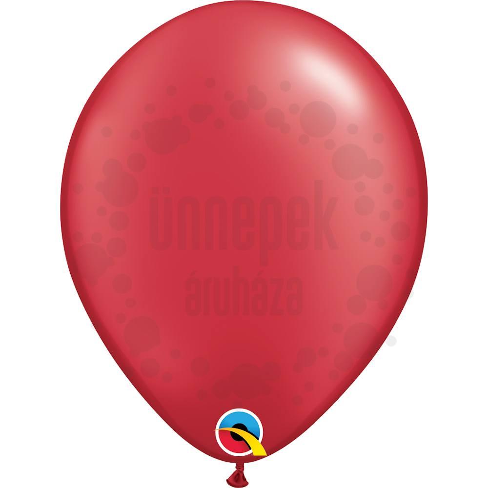 11 inch-es Pearl Ruby Red Kerek Lufi (25 db/csomag)