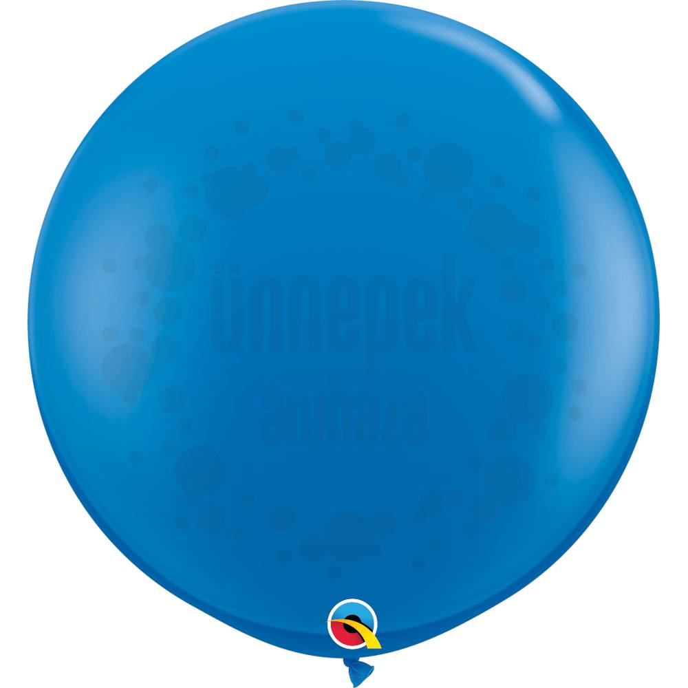 3 feet-es Dark Blue (Standard) Kerek Latex Lufi (2 db/csomag)