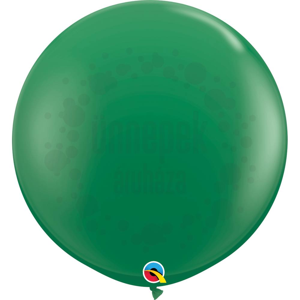 3 feet-es Green (Standard) Kerek Latex Lufi (2 db/csomag)