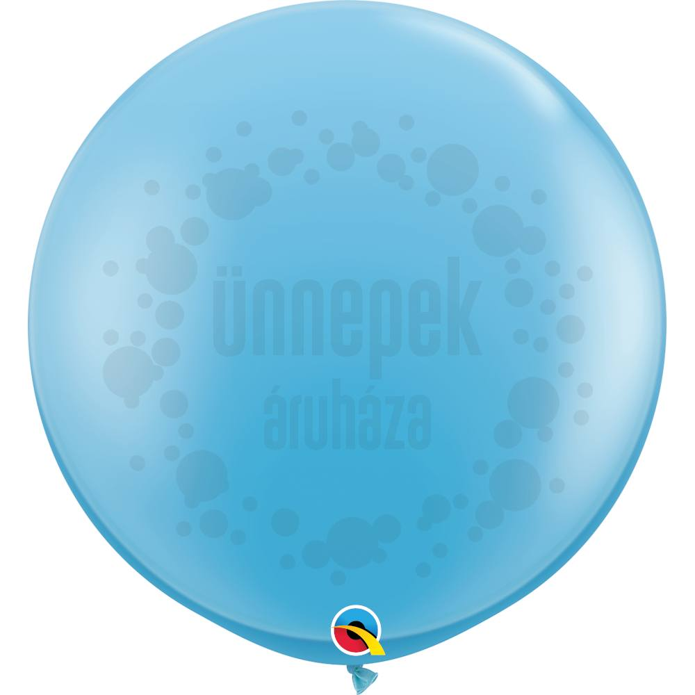 3 feet-es Pale Blue (Standard) Kerek Latex Lufi (2 db/csomag)