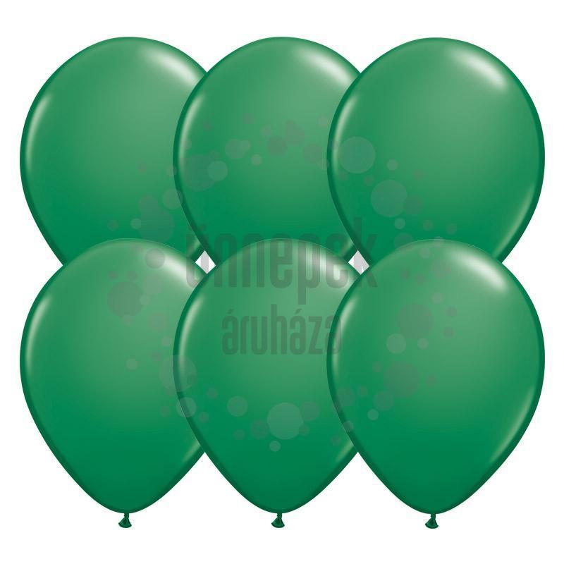 11 inch-es Green (Standard) Kerek Lufi (25 db/csomag)