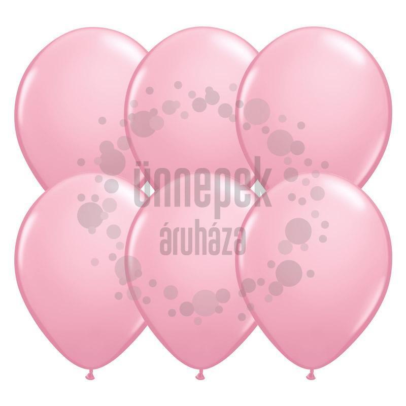 11 inch-es Pink (Standard) Kerek Lufi (100 db/csomag)