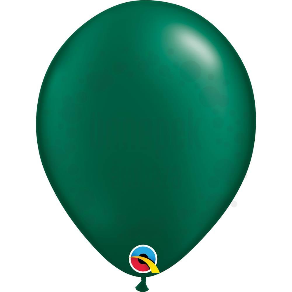 11 inch-es Pearl Forest Green Kerek Lufi (100 db/csomag)