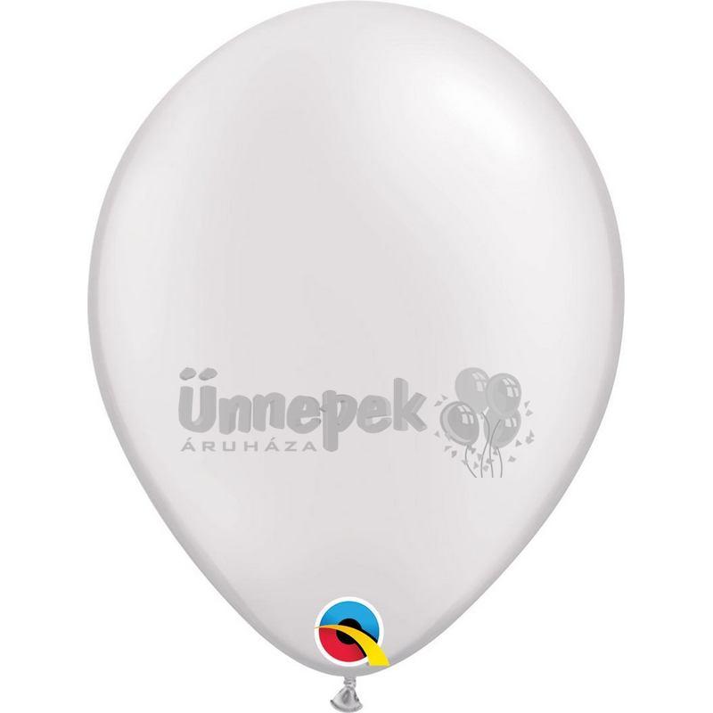 11 inch-es Pearl White Kerek Lufi (100 db/csomag)