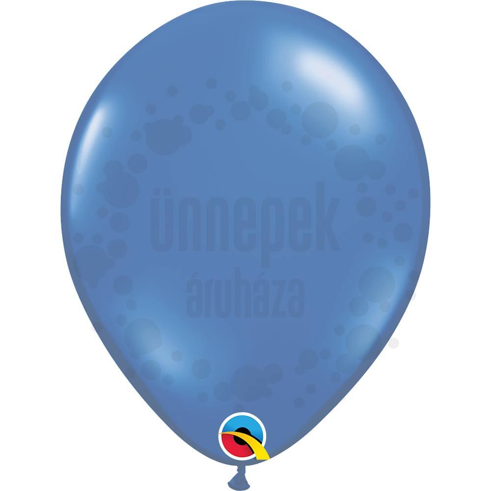 11 inch-es Sapphire Blue (Jewel) Kerek Lufi (100 db/csomag)