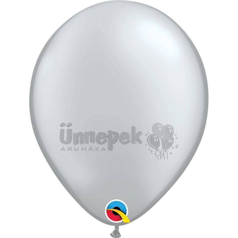 11 inch-es Metallic Silver Kerek Lufi (100 db/csomag)