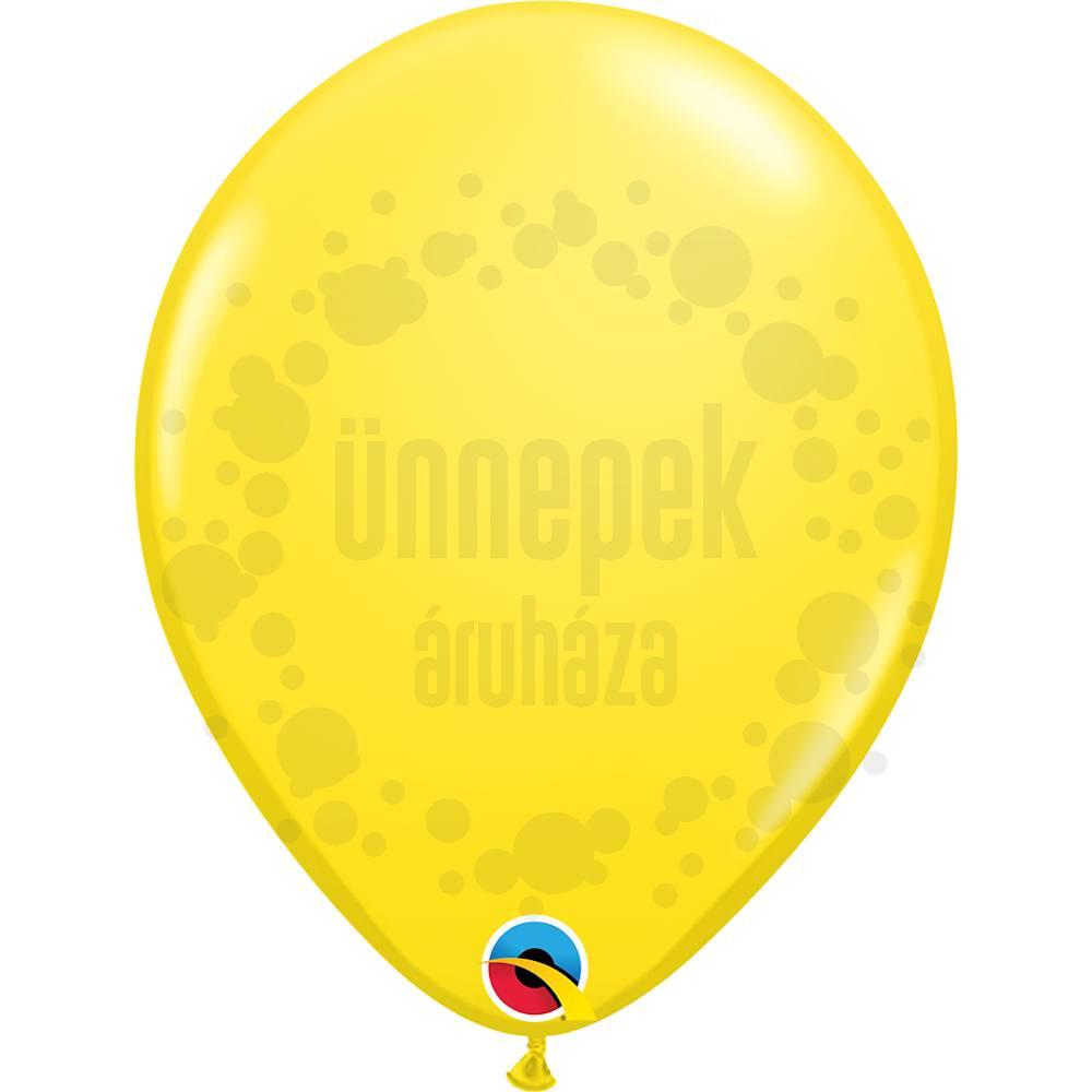 11 inch-es Yellow (Standard) Kerek Lufi (25 db/csomag)