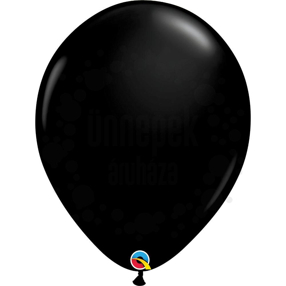16 inch-es Onyx Black (Fashion) Kerek Lufi (10 db/csomag)