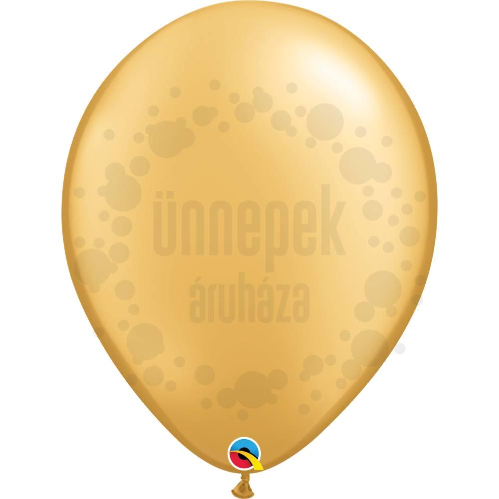 16 inch-es Gold (Metallic) Kerek Lufi (10 db/csomag)