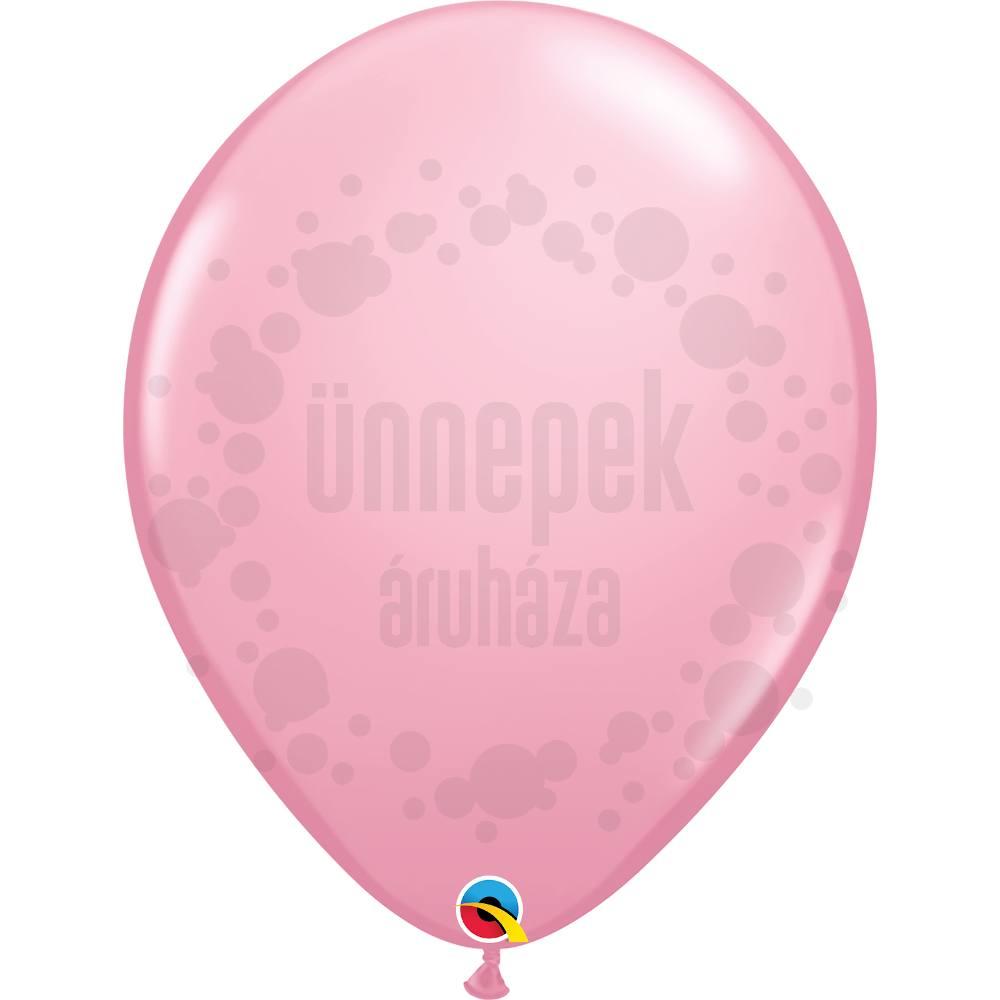 16 inch-es Pink (Standard) Kerek Lufi (10 db/csomag)
