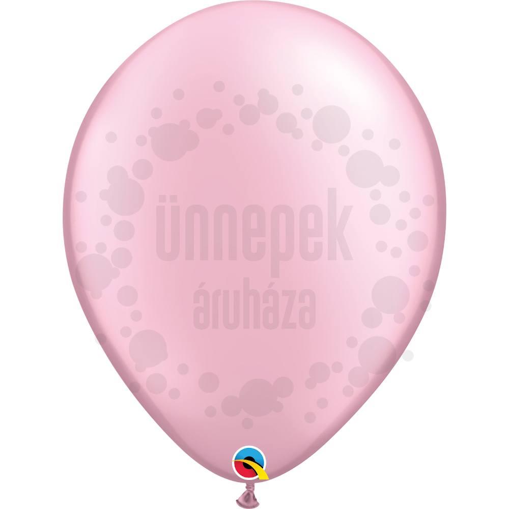 16 inch-es Pearl Pink Kerek Lufi (10 db/csomag)