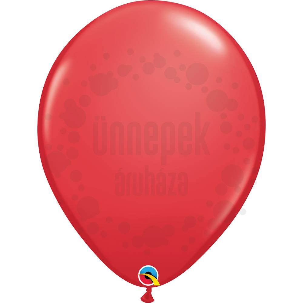 16 inch-es Red (Standard) Kerek Lufi (10 db/csomag)