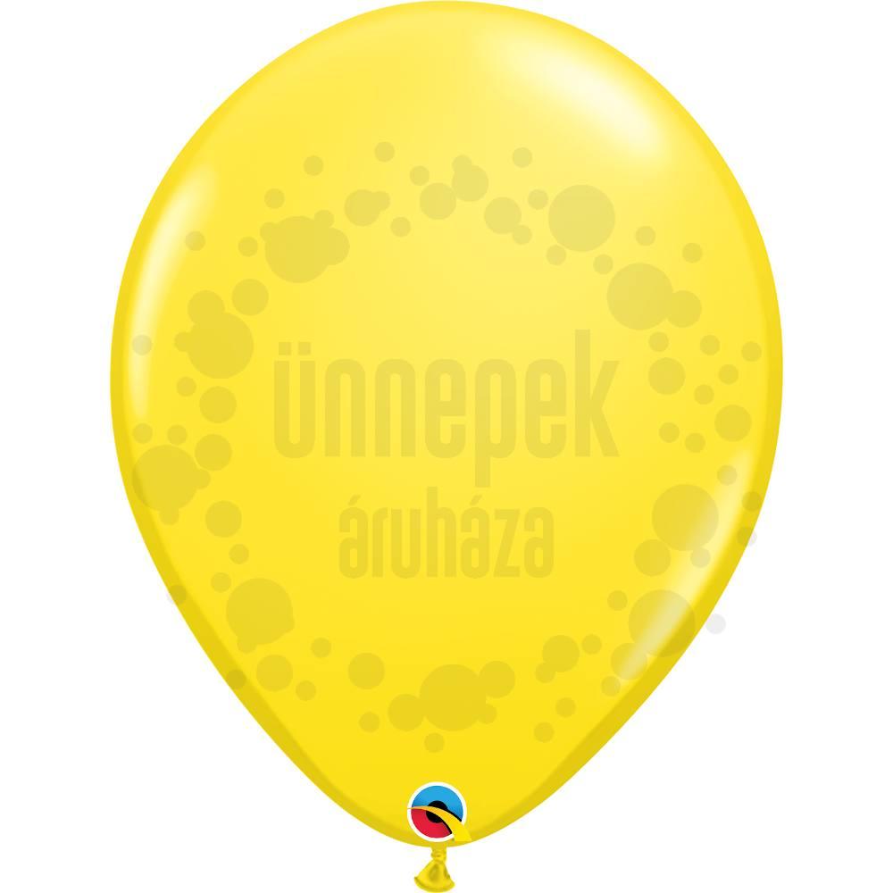 16 inch-es Yellow (Standard) Kerek Lufi (10 db/csomag)