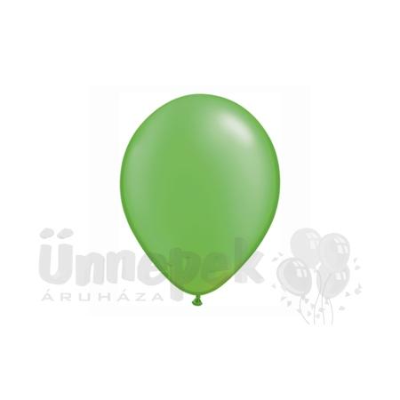 11 inch-es Pearl Lime Green Kerek Lufi (25 db/csomag)