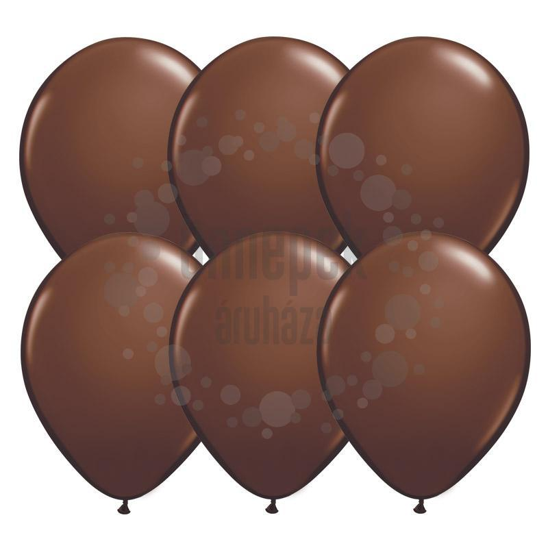 11 inch-es Chocolate Brown (Fashion) Kerek Lufi (25 db/csomag)