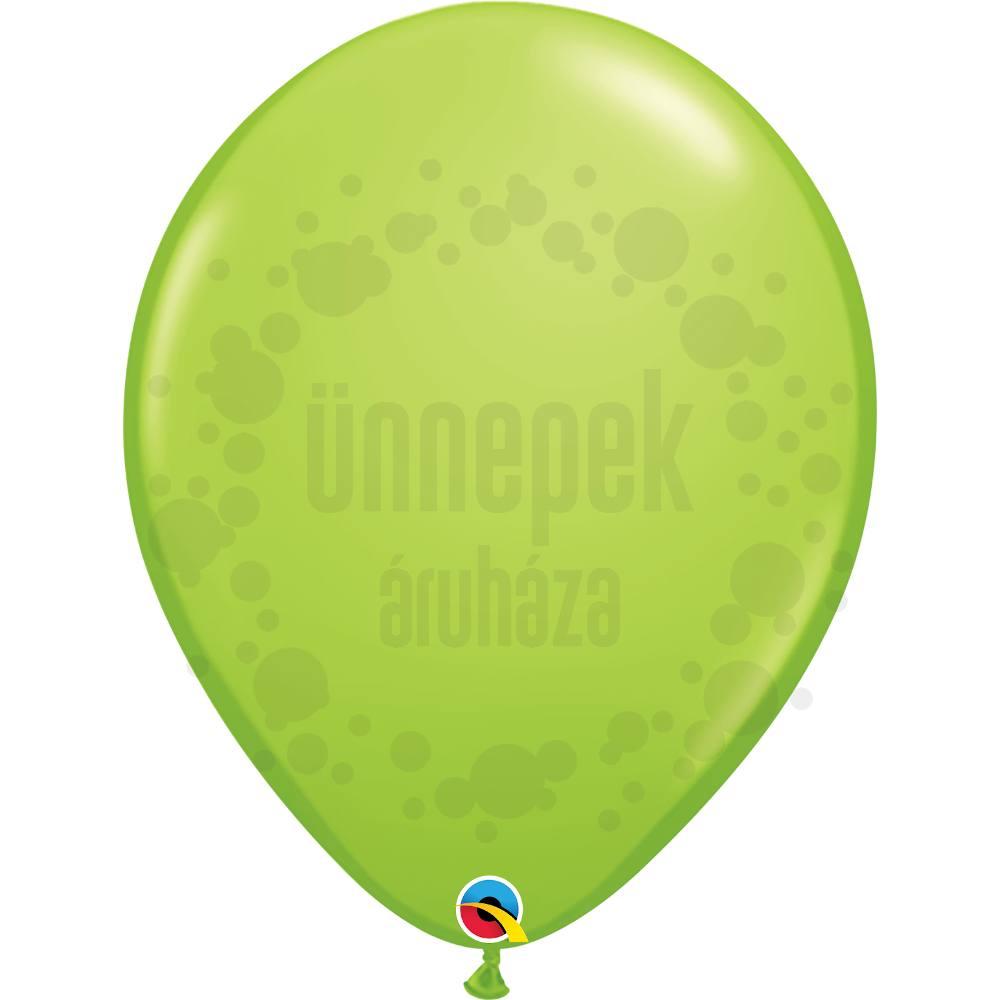 16 inch-es Lime Green (Fashion) Kerek Lufi (10 db/csomag)