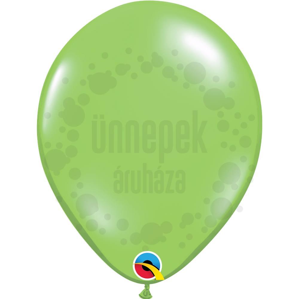 11 inch-es Lime (Jewel) Kerek Lufi (100 db/csomag)