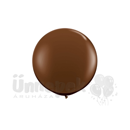 3 feet-es Chocolate Brown (Fashion) Kerek Latex Lufi (2 db/csomag)