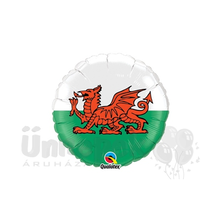 18 inch-es Wels Zászló - Wels Flag Héliumos Fólia Lufi