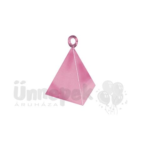 Gyöngyház Rózsaszín (Pearl Pink) Piramis Léggömbsúly - 110 gramm
