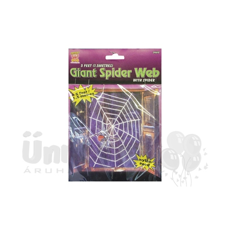 Fekete Pókháló 1 db Pókkal