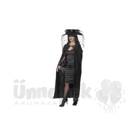 Elegáns Fekete Női Boszorkány Köpeny