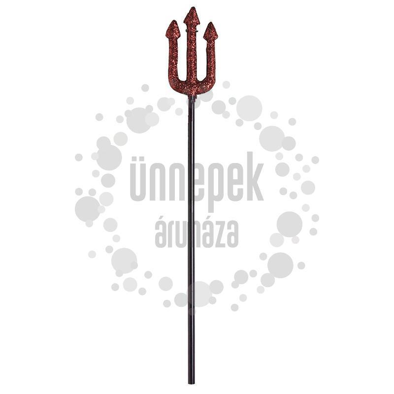 Piros Csillámos Háromágú Szigony - 58 cm