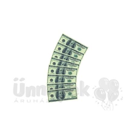 100 Dolláros Parti Szalvéta - 33 cm x 33 cm, 10 db-os