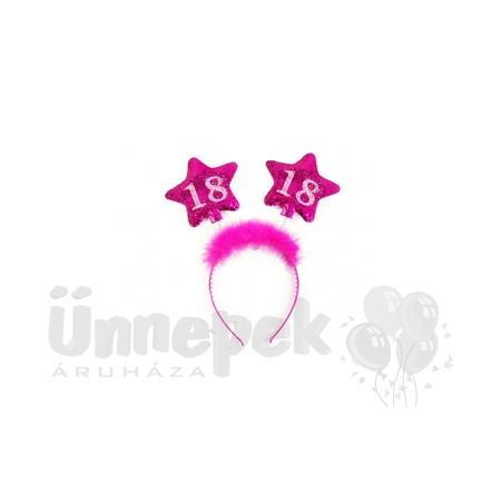 Rózsaszín Számos Szülinapi Fejpánt - 18-as
