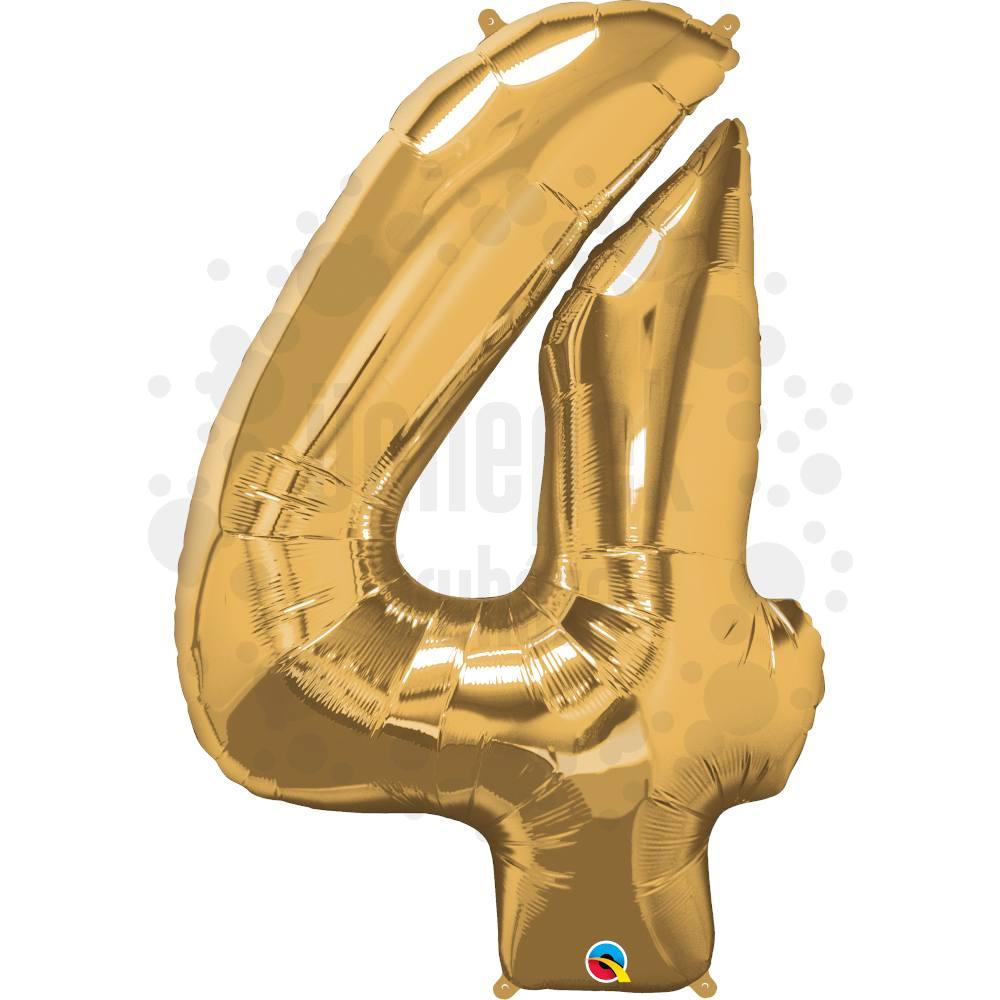 34 inch-es Number 4 Gold - Arany Számos Héliumos Fólia Lufi