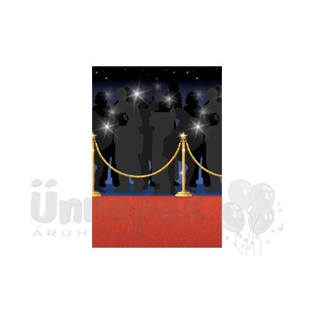 Hollywood Vörös Szőnyeg Parti Szobadíszlet - 15,24 m x 1,22 m