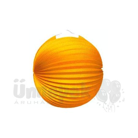 Narancssárga Gömb Lampion - 25 cm