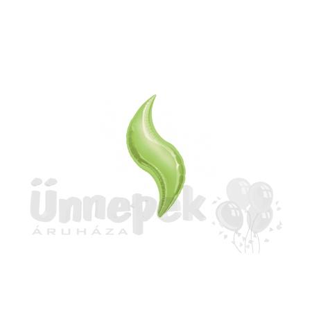 19 inch-es Lime Green - Limezöld Curve Fólia Lufi