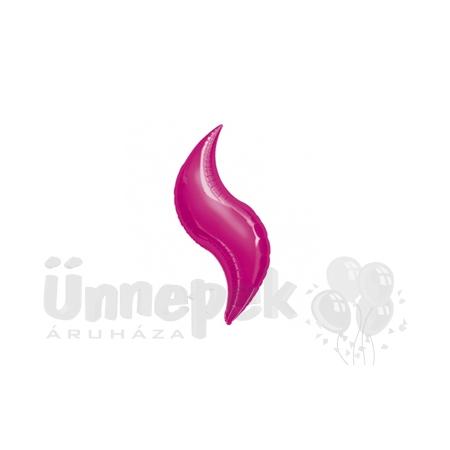 28 inch-es Fuchsia - Magenta Rózsaszín Curve Héliumos Fólia Lufi