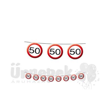 50-es Sebességkorlátozó Szülinapi Parti Füzér - 12 m