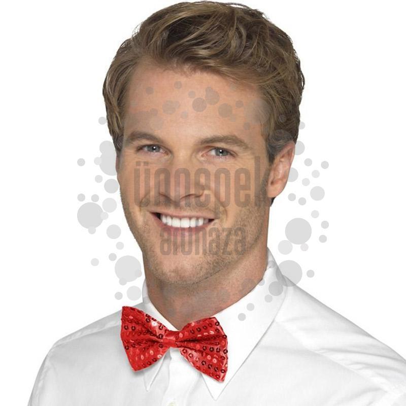 2c2b510358 Piros Flitteres Csokornyakkendő | Party Kellékek Webshop