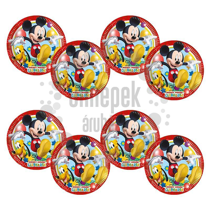 Mikiegér Playful Mickey Parti Tányér - 23 cm, 8 db-os