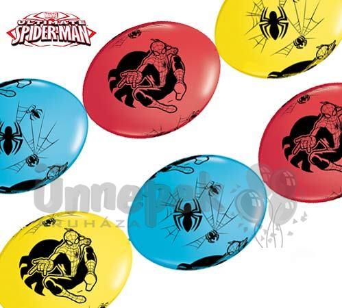 Pókember - Marvel's Ultimate Spiderman Party Banner Quick Link Lufi Füzér, 10 db-os
