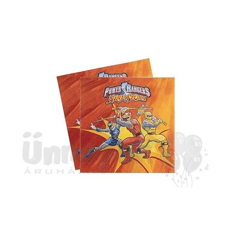 Power Rangers Parti Szalvéta - 33 cm x 33 cm, 20 db-os