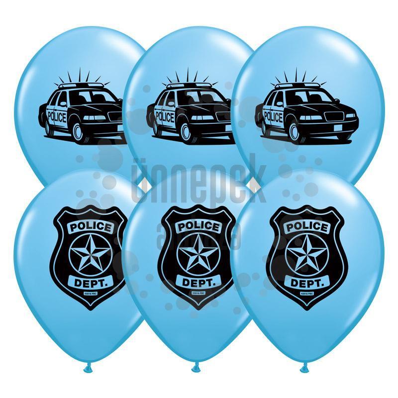 11 inch-es Police Department (Rendőrség) Pale Blue Lufi (25 db/csomag)