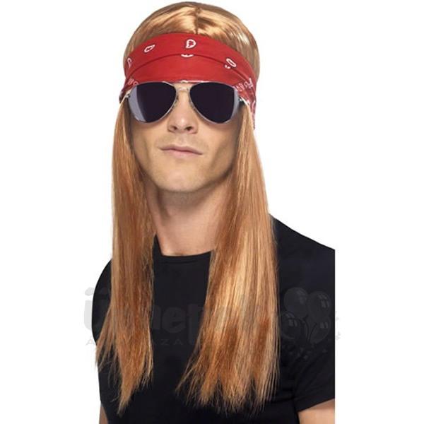 Rocker Szett - Paróka, Fejpánt, Szemüveg