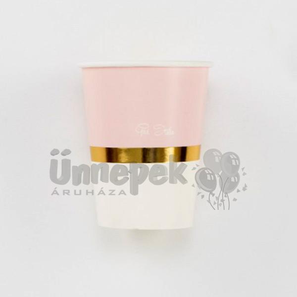 Pink 1st Birthday - Első Szülinapi Parti Pohár - 8 db-os, 250 ml