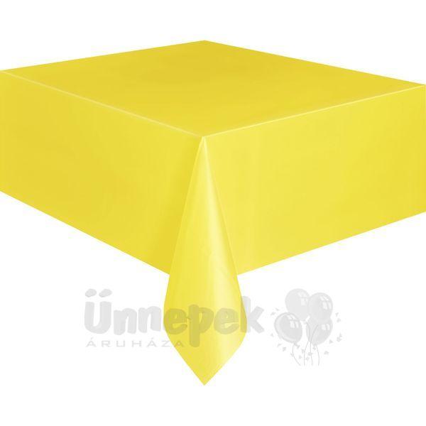 Sunflower Yellow Műanyag Parti Asztalterítő - 137 cm x 274 cm