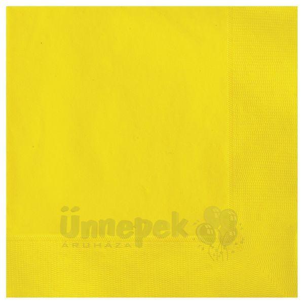 Sunflower Yellow Papír Parti Szalvéta - 33 cm x 33 cm, 20 db-os
