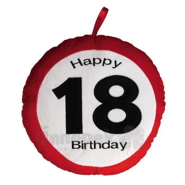 Happy Birthday 18-as Sebességkorlátozó Plüss Párna