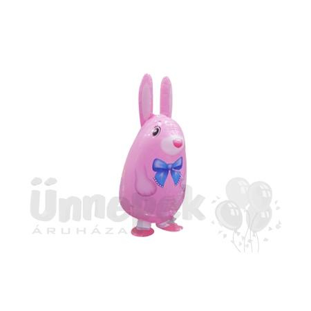 Sétáló Rózsaszín Nyuszi Héliumos Lufi