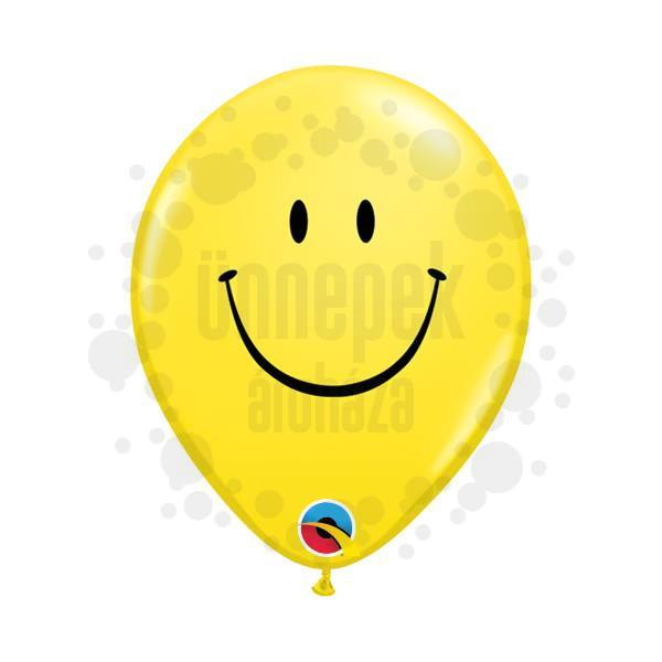 5 inch-es Smile Face Yellow Lufi (100 db/csomag)