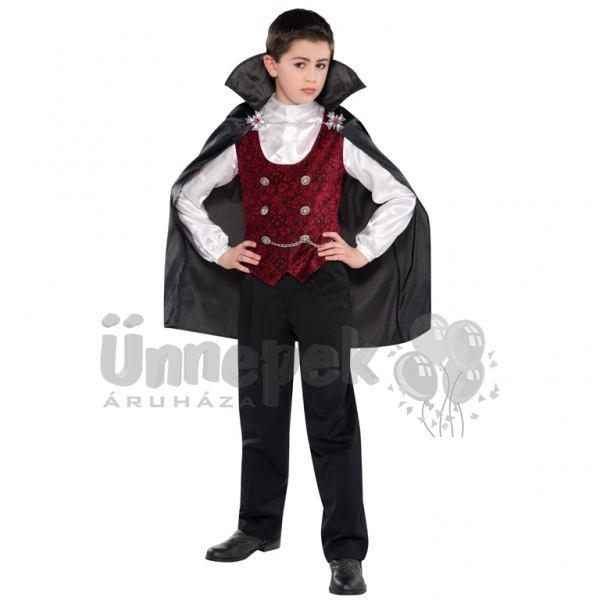Sötét Vámpír Fiú Jelmez Halloweenre - 8-10 éveseknek